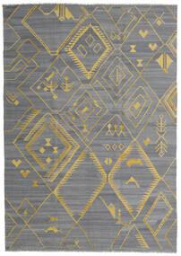 Kelim Ariana Matto 200X284 Moderni Käsinkudottu Vaaleansininen/Tummanharmaa/Vaaleanharmaa (Villa, Afganistan)