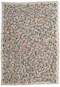 Kelim Afghan Old Style Matto 210X287 Itämainen Käsinkudottu Vaaleanharmaa/Tummanharmaa (Villa, Afganistan)