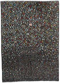 Kelim Moderni Matto 211X285 Moderni Käsinkudottu Musta/Tummanharmaa (Villa, Afganistan)