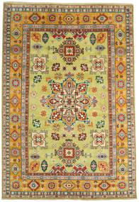 Kazak Matto 206X302 Itämainen Käsinsolmittu Keltainen/Tummanpunainen (Villa, Afganistan)
