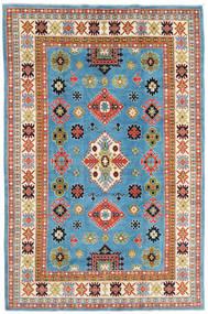 Kazak Matto 208X315 Itämainen Käsinsolmittu Siniturkoosi/Beige (Villa, Afganistan)