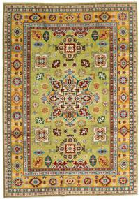 Kazak Matto 205X289 Itämainen Käsinsolmittu Tummanpunainen/Keltainen (Villa, Afganistan)