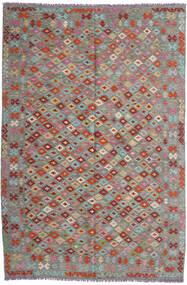 Kelim Afghan Old Style Matto 199X296 Itämainen Käsinkudottu Tummanharmaa/Vaaleanharmaa (Villa, Afganistan)