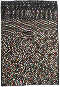Kelim Moderni Matto 202X292 Moderni Käsinkudottu Musta/Tummanharmaa (Villa, Afganistan)