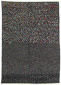 Kelim Moderni Matto 210X292 Moderni Käsinkudottu Tummanharmaa/Musta (Villa, Afganistan)