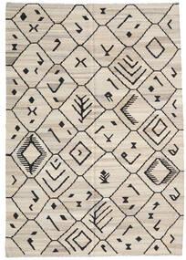 Kelim Ariana Matto 206X292 Moderni Käsinkudottu Vaaleanharmaa/Tummanharmaa (Villa, Afganistan)