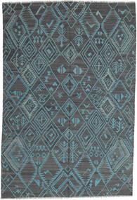Kelim Moderni Matto 197X291 Moderni Käsinkudottu Vaaleansininen/Sininen (Villa, Afganistan)
