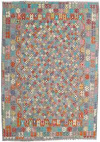 Kelim Afghan Old Style Matto 213X300 Itämainen Käsinkudottu Tummanharmaa/Vaaleanharmaa (Villa, Afganistan)
