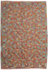 Kelim Afghan Old Style Matto 208X299 Itämainen Käsinkudottu Tummanpunainen/Pinkki (Villa, Afganistan)