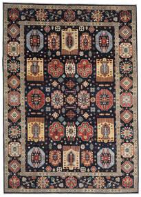 Kazak Matto 252X349 Itämainen Käsinsolmittu Tummansininen/Vaaleanharmaa Isot (Villa, Afganistan)