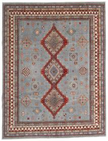 Kazak Matto 245X318 Itämainen Käsinsolmittu Vaaleanharmaa/Tummanharmaa (Villa, Afganistan)
