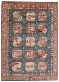 Kazak Matto 252X345 Itämainen Käsinsolmittu Vaaleansininen/Tummanpunainen Isot (Villa, Afganistan)
