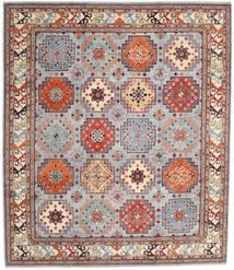 Kazak Matto 255X295 Itämainen Käsinsolmittu Vaaleanharmaa/Vaaleanruskea Isot (Villa, Afganistan)