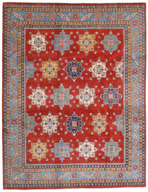Kazak Matto 240X308 Itämainen Käsinsolmittu Ruoste/Vaaleanvioletti (Villa, Afganistan)