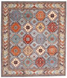 Kazak Matto 254X294 Itämainen Käsinsolmittu Vaaleanruskea/Vaaleanharmaa Isot (Villa, Afganistan)