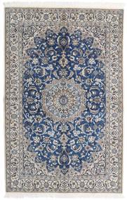 Nain 9La Matto 130X202 Itämainen Käsinsolmittu Vaaleanharmaa/Beige (Villa/Silkki, Persia/Iran)