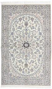 Nain 9La Matto 130X208 Itämainen Käsinsolmittu Vaaleanharmaa/Tummanharmaa (Villa/Silkki, Persia/Iran)