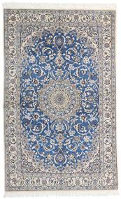 Nain 9La Matto 124X200 Itämainen Käsinsolmittu Vaaleanharmaa/Tummanharmaa (Villa/Silkki, Persia/Iran)