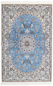 Nain 9La Matto 135X206 Itämainen Käsinsolmittu Vaaleanharmaa/Vaaleansininen (Villa/Silkki, Persia/Iran)