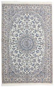 Nain 9La Matto 130X203 Itämainen Käsinsolmittu Vaaleanharmaa/Tummanharmaa (Villa/Silkki, Persia/Iran)