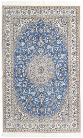 Nain 9La Matto 126X206 Itämainen Käsinsolmittu Vaaleanharmaa/Valkoinen/Creme/Tummanharmaa (Villa/Silkki, Persia/Iran)