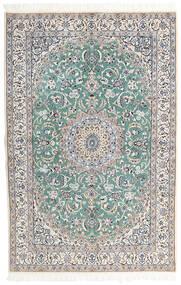 Nain 9La Matto 130X198 Itämainen Käsinsolmittu Vaaleanharmaa/Tummanharmaa (Villa/Silkki, Persia/Iran)