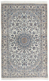 Nain 9La Matto 123X200 Itämainen Käsinsolmittu Vaaleanharmaa/Tummanharmaa (Villa/Silkki, Persia/Iran)