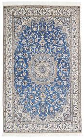 Nain 9La Matto 125X206 Itämainen Käsinsolmittu Tummanharmaa/Vaaleanharmaa (Villa/Silkki, Persia/Iran)