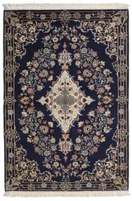 Isfahan Silkkiloimi Matto 112X160 Itämainen Käsinsolmittu Tummanvioletti/Vaaleanharmaa/Tummanharmaa (Villa/Silkki, Persia/Iran)