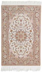 Isfahan Silkkiloimi Allekirjoitettu Mazaheri Matto 108X163 Itämainen Käsinsolmittu Vaaleanharmaa/Valkoinen/Creme (Villa/Silkki, Persia/Iran)