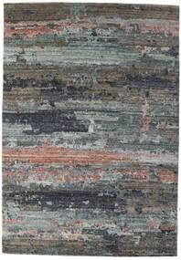 Damask Collection Matto 164X237 Moderni Käsinsolmittu Tummanharmaa/Vaaleanharmaa ( Intia)