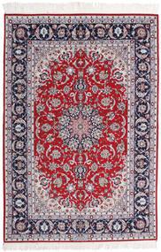 Isfahan Silkkiloimi Allekirjoitettu Ansari Matto 158X237 Itämainen Käsinsolmittu Vaaleanvioletti/Tummanharmaa (Villa/Silkki, Persia/Iran)