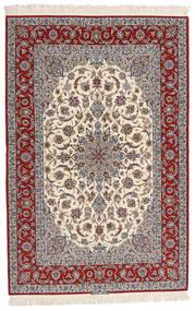 Isfahan Silkkiloimi Allekirjoitettu Entashari Matto 161X241 Itämainen Käsinsolmittu Beige/Vaaleanharmaa/Tummanruskea (Villa/Silkki, Persia/Iran)