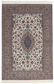 Isfahan Silkkiloimi Allekirjoitettu Sanai Dust Matto 152X225 Itämainen Käsinsolmittu Vaaleanharmaa/Beige (Villa/Silkki, Persia/Iran)