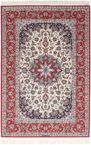 Isfahan Silkkiloimi Allekirjoitettu Exitashari Matto 152X226 Itämainen Käsinsolmittu Tummanruskea/Vaaleanharmaa (Villa/Silkki, Persia/Iran)