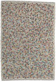 Kelim Afghan Old Style Matto 205X296 Itämainen Käsinkudottu Vaaleanharmaa/Tummanharmaa (Villa, Afganistan)