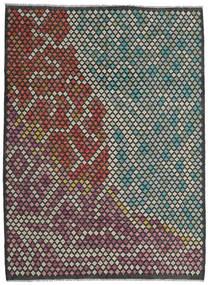 Kelim Moderni Matto 210X284 Moderni Käsinkudottu Musta/Tummanharmaa (Villa, Afganistan)