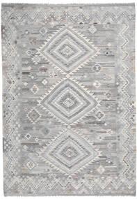 Kelim Ariana Matto 205X296 Moderni Käsinkudottu Vaaleanharmaa (Villa, Afganistan)