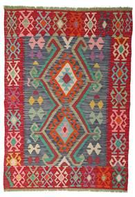 Kelim Afghan Old Style Matto 100X141 Itämainen Käsinkudottu Ruoste/Punainen (Villa, Afganistan)