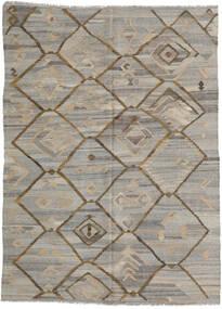 Kelim Ariana Matto 212X285 Moderni Käsinkudottu Vaaleanharmaa/Vaaleanruskea (Villa, Afganistan)