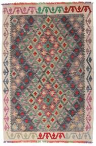 Kelim Afghan Old Style Matto 98X145 Itämainen Käsinkudottu Vaaleanharmaa/Tummanruskea (Villa, Afganistan)
