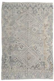 Kelim Moderni Matto 212X295 Moderni Käsinkudottu Vaaleanharmaa (Villa, Afganistan)