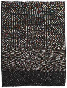 Kelim Moderni Matto 221X286 Moderni Käsinkudottu Musta/Tummanharmaa (Villa, Afganistan)