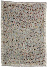 Kelim Afghan Old Style Matto 210X296 Itämainen Käsinkudottu Vaaleanharmaa/Tummanharmaa (Villa, Afganistan)