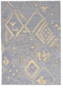 Kelim Ariana Matto 205X286 Moderni Käsinkudottu Vaaleanharmaa/Tummanbeige (Villa, Afganistan)