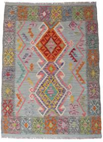 Kelim Afghan Old Style Matto 105X144 Itämainen Käsinkudottu Tummanharmaa/Vaaleanharmaa (Villa, Afganistan)