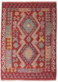 Kelim Afghan Old Style Matto 106X147 Itämainen Käsinkudottu Tummanpunainen/Ruoste (Villa, Afganistan)