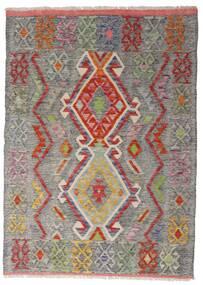 Kelim Afghan Old Style Matto 103X144 Itämainen Käsinkudottu Vaaleanharmaa/Vaaleanruskea (Villa, Afganistan)