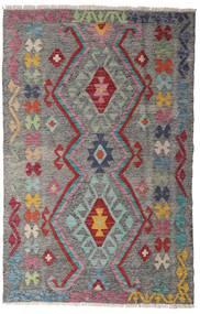 Kelim Afghan Old Style Matto 97X150 Itämainen Käsinkudottu Vaaleanharmaa/Tummanharmaa (Villa, Afganistan)