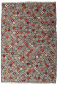 Kelim Afghan Old Style Matto 107X155 Itämainen Käsinkudottu Tummanharmaa/Vaaleanharmaa (Villa, Afganistan)